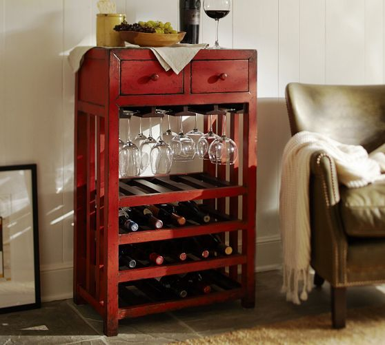 1000 images about home on pinterest mantels mantles for Pottery barn wine rack wood