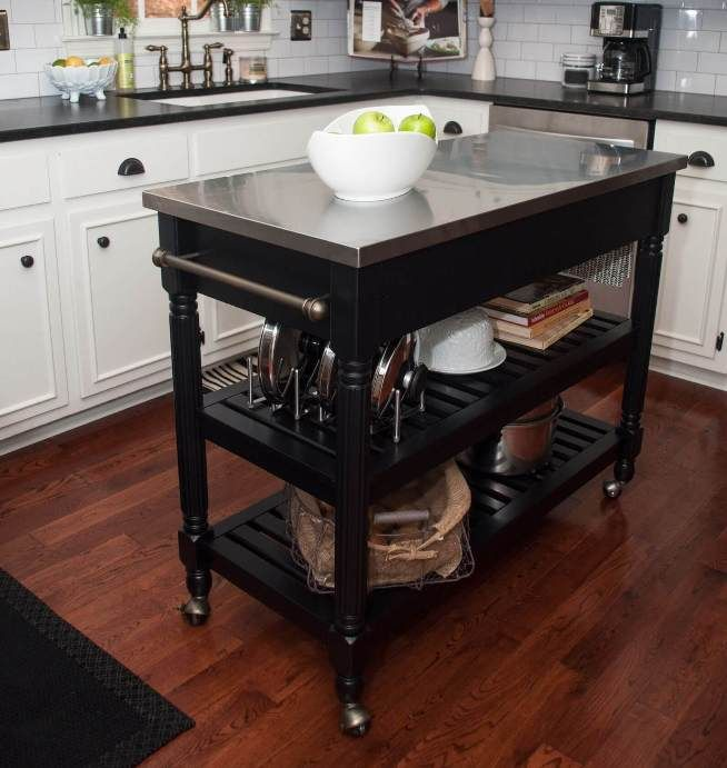 17 Best Ideas About Moveable Kitchen Island On Pinterest Wood Kitchen Island Rolling Kitchen