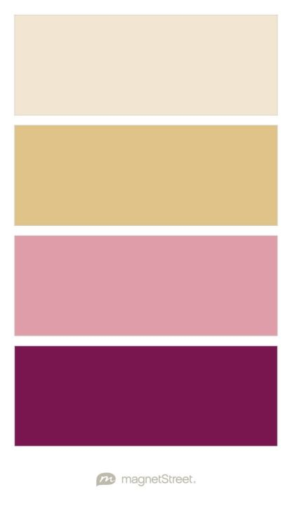 Champagne, Gold, Blush, and Sangria Wedding Color Palette - custom color palette created at MagnetStreet.com