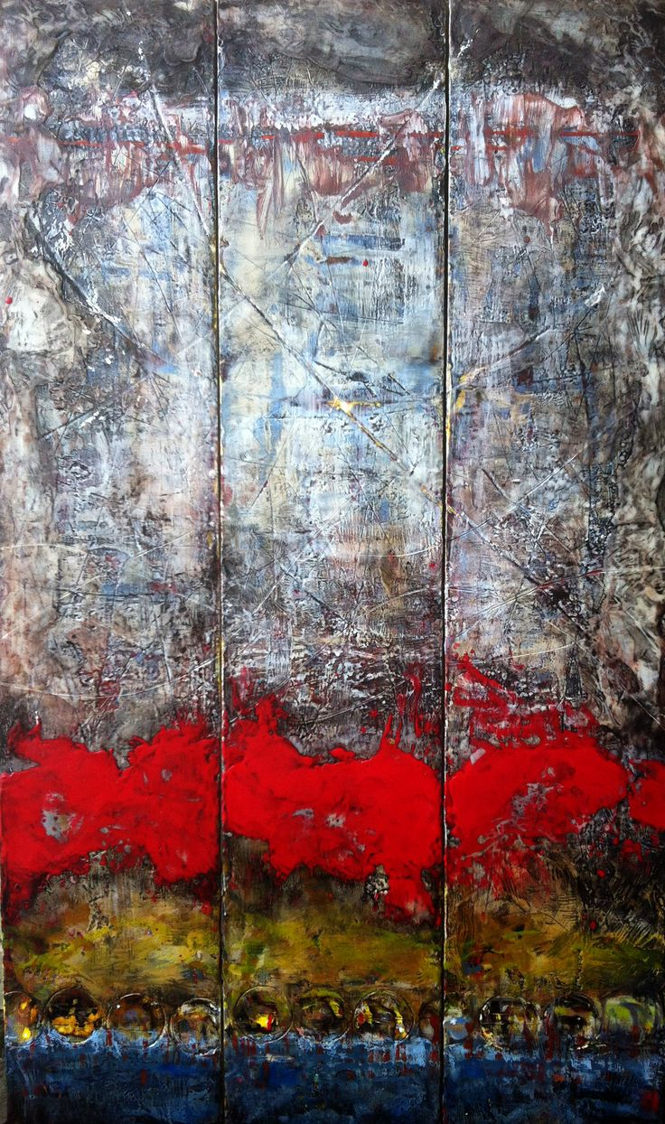 Triptych 3 60x12 encaustic paintings 39 the last week for Airbrushing mural