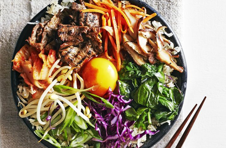 Bibimbap, for those who aren't familiar, is a Korean rice dish that is all kinds of delicious.
