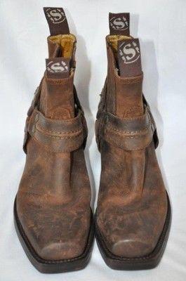 SENDRA - krótkie kowbojki skóra, jak nowe r. 38