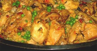 Recetas de Doña Martha: ARROZ CON POLLO: Cooker Recipes, Recipe, Slow Cooker Chicken, Crockpot Paella, Crockpot Recipes, Arrozconpollo, Sausages Paella, Chicken Rice, Chili