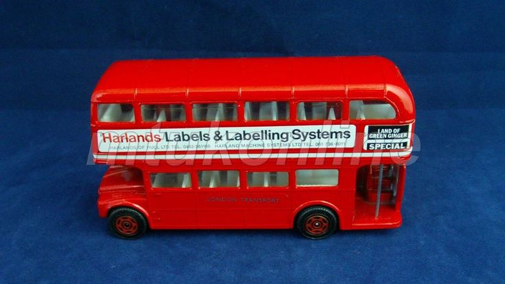 CORGI DOUBLE DECKER BUS | MADE IN GB | HARLANDS LABELS LABELLING SYSTEM | LONDON