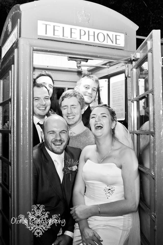 budget wedding photography west midlands%0A Wedding couple and guests in telephone box  National Telephone Kiosk  Collection at Avoncroft Museum of