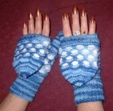 Flip Top Newfie Knit mitts
