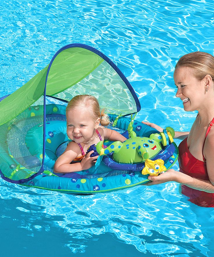 Green Activity Center Canopied Baby Spring Float