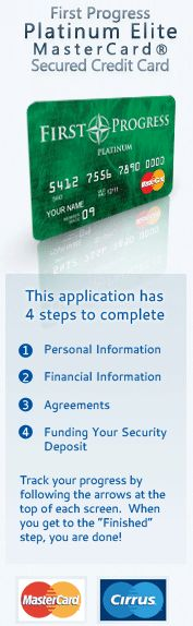 Apply for Secured Credit Cards with Bad Credit | No Credit Credit Cards - First Progress