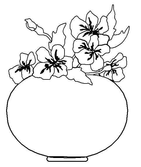 Flowers In A Round Vase
