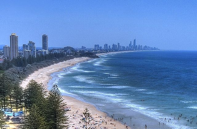 Burleigh Heads view from ocean-view balcony