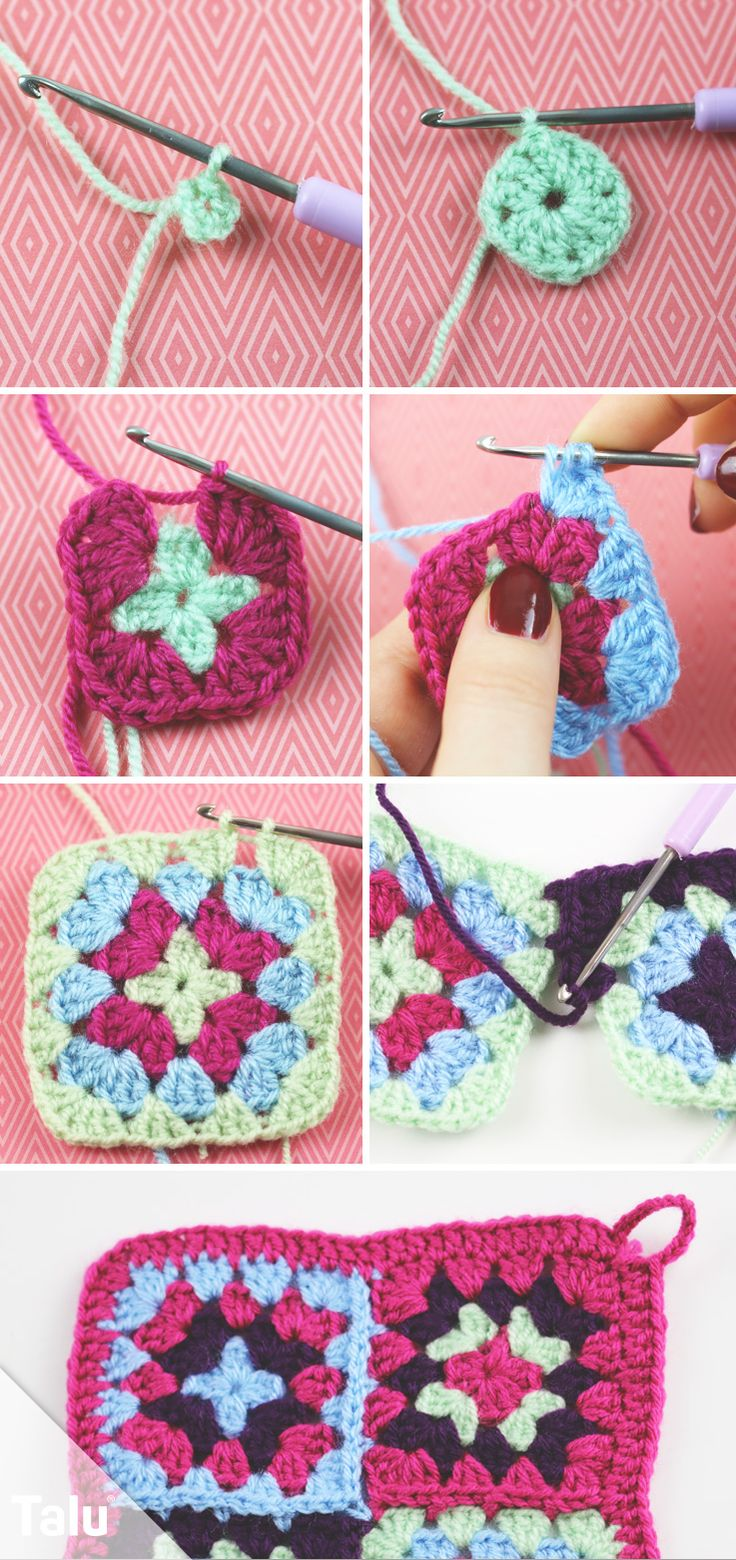 499 best Granny Square images on Pinterest | Omas häkelquadrate ...