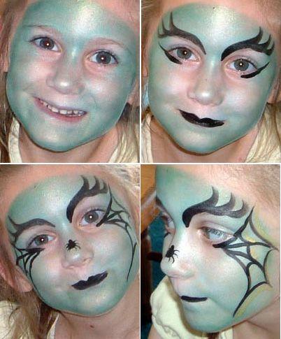 Maquillaje de bruja para niñas.