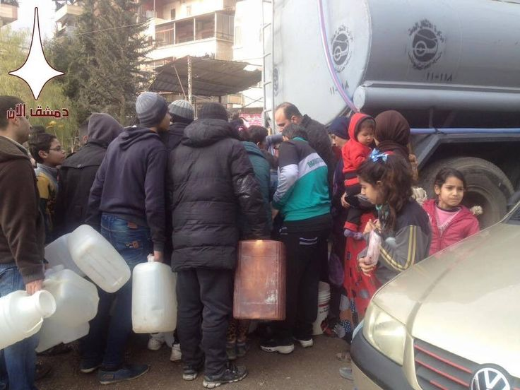 No water for MILLIONS of Syrians for days thanks to #Al_Qaeda. 6th January 2017
