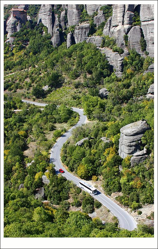 Fascinating landscape of Meteora in Thessaly