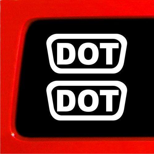 2 DOT Helmet Decals sticker pack set free shipping motorcycle helmet decals stickers white black red pink green orange by StickerWarehouse on Etsy