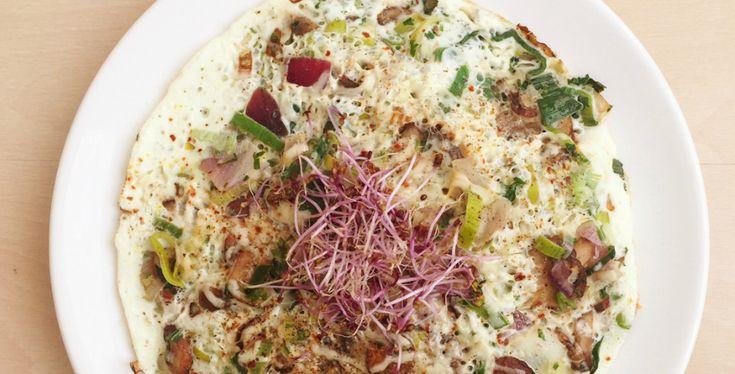 eiwit omelet met roerbak groenten