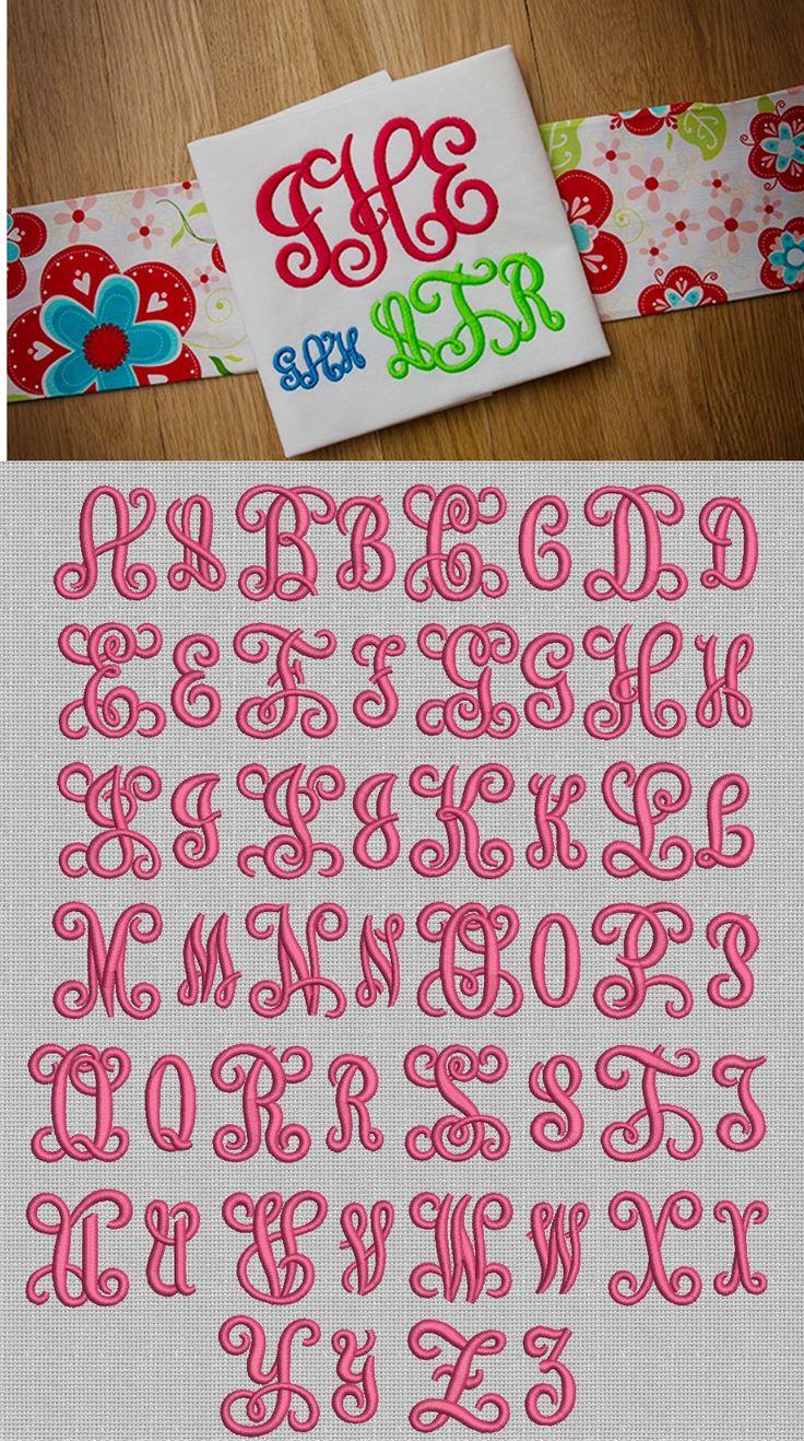 Vine Interlocking Monogram Designs by JuJu 8