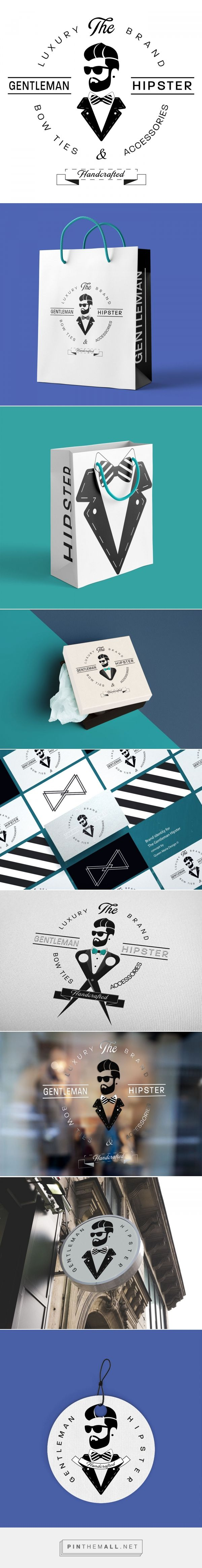 THE GENTLEMAN HIPSTER / Brand Identity on Behance - created by @queenmariadesign  via https://pinthemall.net