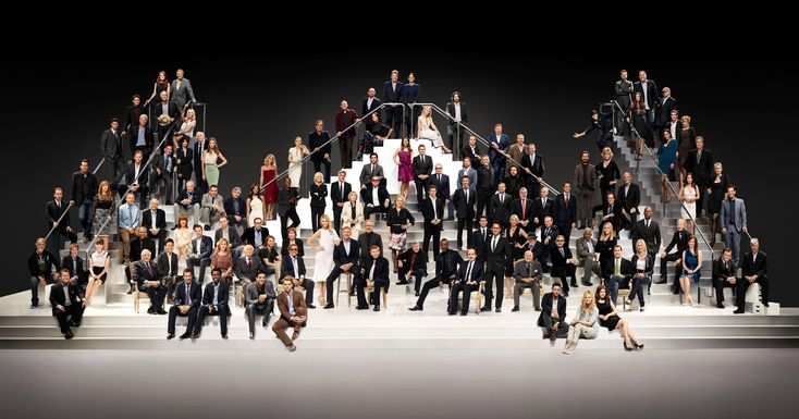 """""""To celebrate its 100th year anniversary, Paramount Pictures gathered together 116 of Hollywood's most famous stars for an epic group picture. """""""