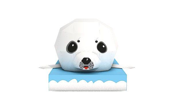 Baby Seal - Animal Paper Craft