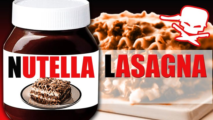 Nutella Lasagna : Epic Meal Time - 19 Aug 2014 #nutella #bacon #chocolate