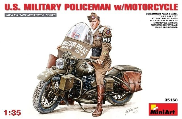 MiniArt U.S. Military Police met motor. € 22,95 http://www.modelbouwwildervank.nl/a-41744872/militaire-voertuigen-wwii-1-35/u-s-military-police-met-motor/
