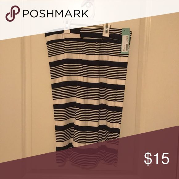 Navy striped skirt Navy striped skirt. Never worn. Skirts Midi