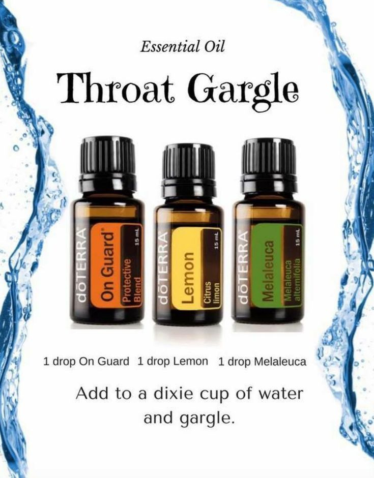 Doterra essential oil gargle