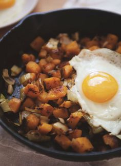 Leek And Butternut Squash Hash  Can't beat a hash....no squash - use swede/parsnip