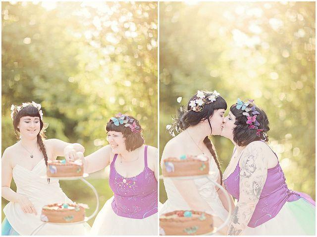 2-brides-green-house-diy-wedding-52 by fichterleen, via Flickr