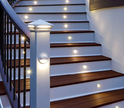 Trex has a full gallery of deck and landscape lighting designs