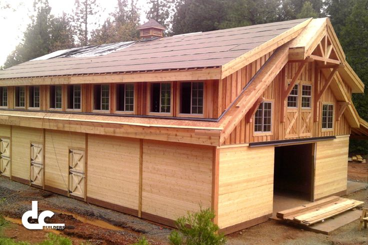 Check out this custom wood apartment barn in oroville for Custom garages with living quarters