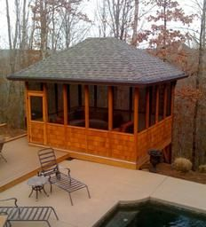 17 best images about screened in porch on pinterest for Detached screened porch