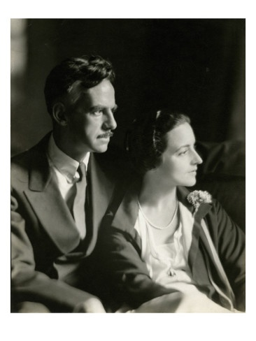 Eugene O'Neill, the only playwright ever to win a Nobel Prize for literature; shown with his third wife, Carlotta, the keeper.