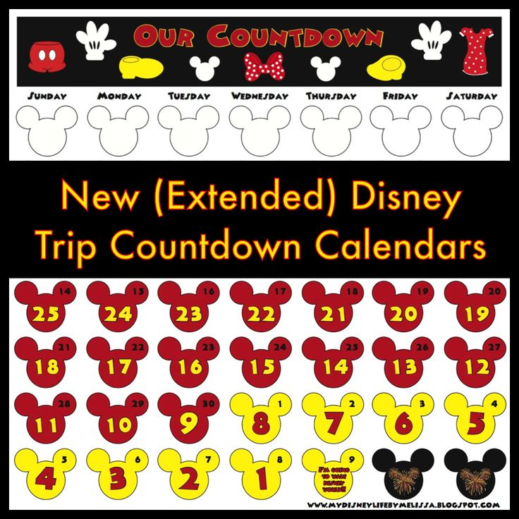 Disney Countdown Calendar Template Images - Template Design Free