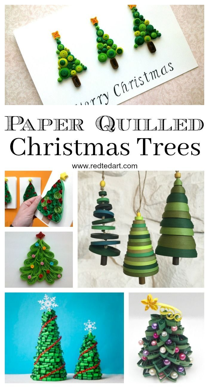 Paper Quilled Christmas Trees Have Fun With Paper How Cute Are These Paper Christmas Tree Diys Si Paper Christmas Tree Quilling Christmas Crafts By Season