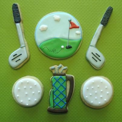 golfing cookies - perfect for a golf party or ladies golf luncheon  #golf