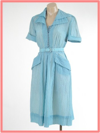 I love this color AND the pockets: Mullins Henley, Aqua Shirtwaist, Vintage Fashion, Dresses 65, Day Dresses, 1940S Aqua, Rebeccah Mullins, 1940 Shirtwaist Dresses