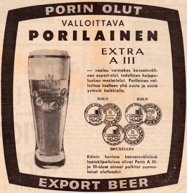 Porin Olut Extra A III