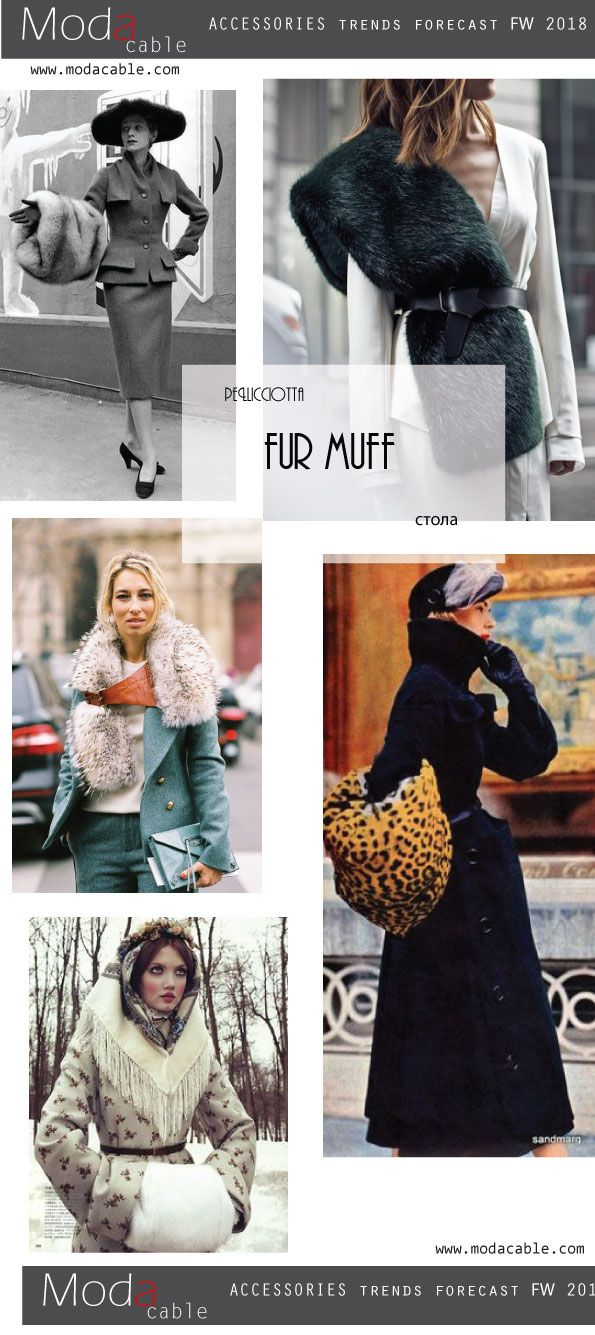 FW 2018 accessroies trends. fur muff