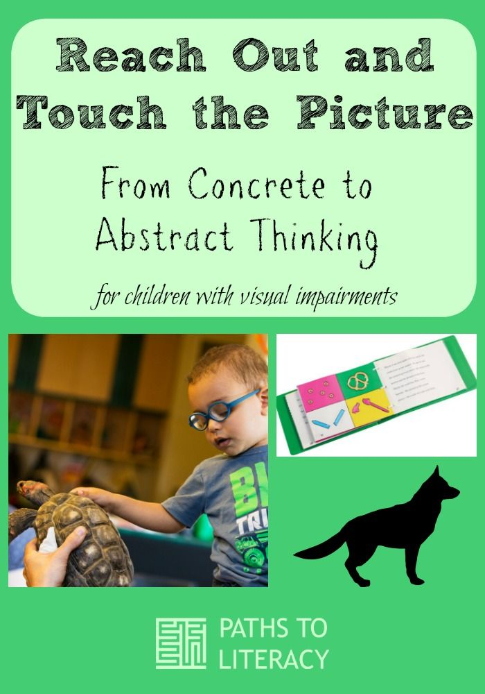 Tips to teach young children who are blind or visually impaired to understand tactile graphics by moving from concrete to abstract thinking