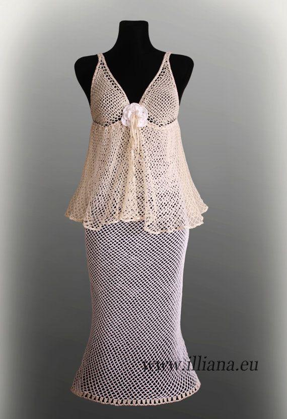 Crocheted Weddings dress.