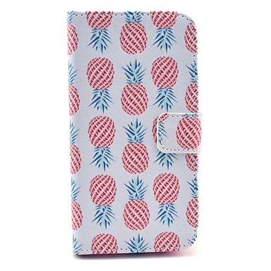 rode ananas patroon op wit pu leer full body case voor samsung s3 i9300 – EUR € 7.83