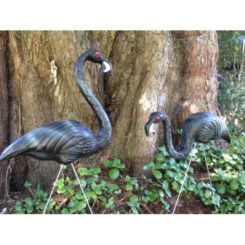Zombie Black Flamingos 1 Pair Gift Boxed