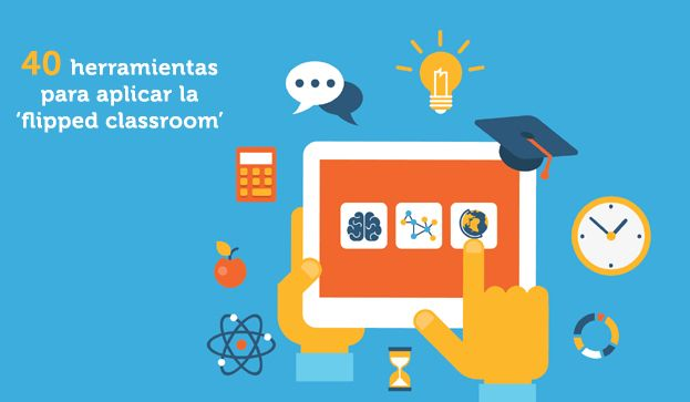 Si quieres innovar y llevar a la práctica esta metodología flipped classroom, te recomendamos 40 herramientas que te servirán para poner del revés tu clase.