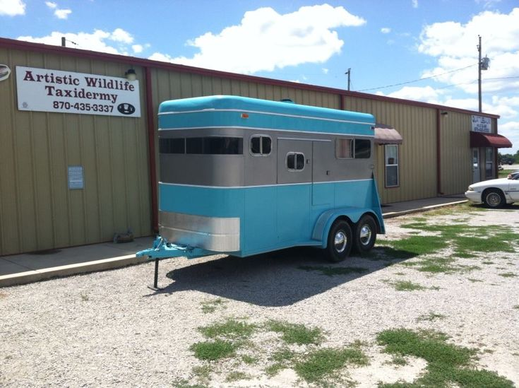 Best Old Horse Trailers Images On Pinterest Black Campers - Old shabby trailer gets one hell makeover
