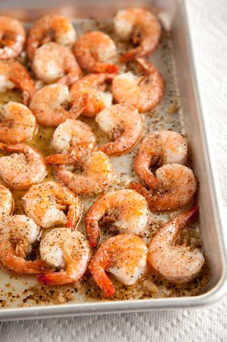 Paula Deen Black Pepper Shrimp is so easy! I added some red pepper flakes for a little more spice!
