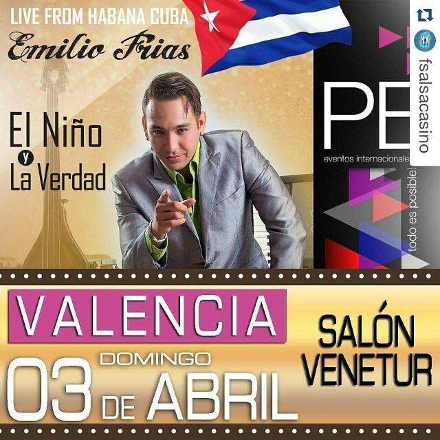 """#Repost @fsalsacasino with @repostapp  Emilio Frías """"El Niño y la Verdad"""" ahora en la ciudad de #valencia para todos los bailado res de #salsacasino  Te invita @pbeventosinternacionales  #SalsaCasinoVenezuela #SiBailasSalsaCasinoEstasAqui #Baile #Bailar #SalsaCasino #BailaSalsaCasino #DanceSalsa #DanceSalsaCasino"""