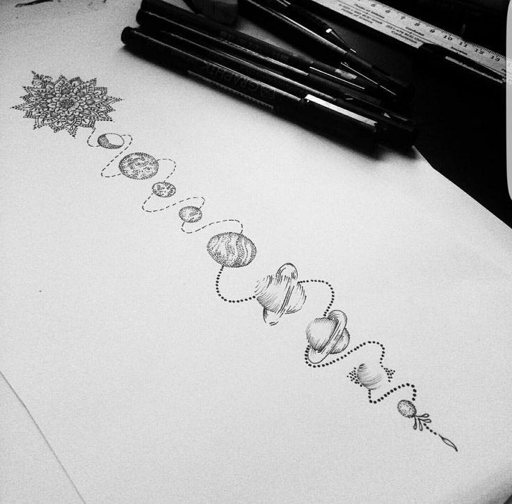 ideia, agulhas, linhas e simbolos