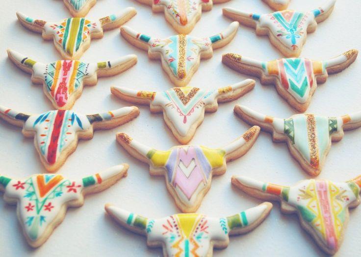 cookie favor idea - bohemian wedding shower inspiration